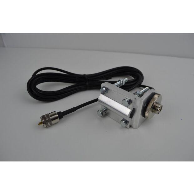 Universalhalter H3 - SO-239 Buchse mit 3m Kabel und PL-Steck
