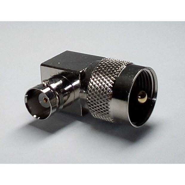 Winkeladapter PL-St/BNC-Bu