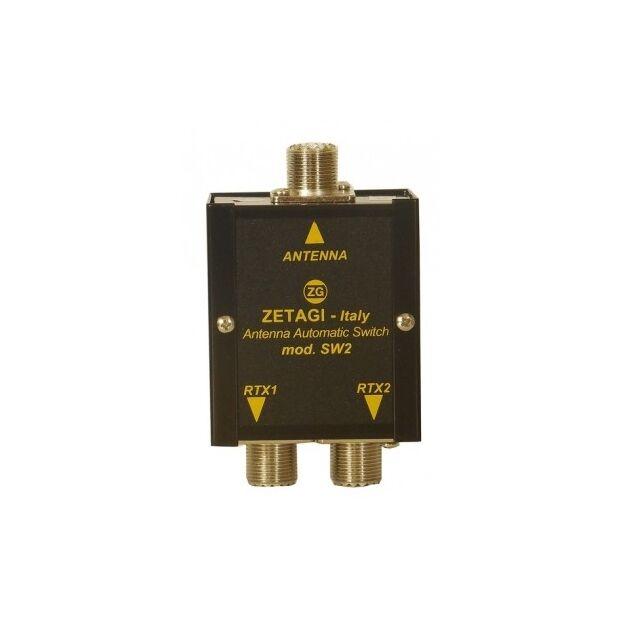 SW-2 - Zetagi - autom. 2-fach Antennenschalter m. PL-Buchsen