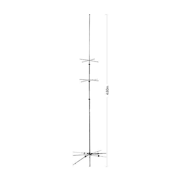 Diamond CP-6SR mit R2 Radial HF-Vertikal Stationsantenne (~ 3650-3750 kHz)