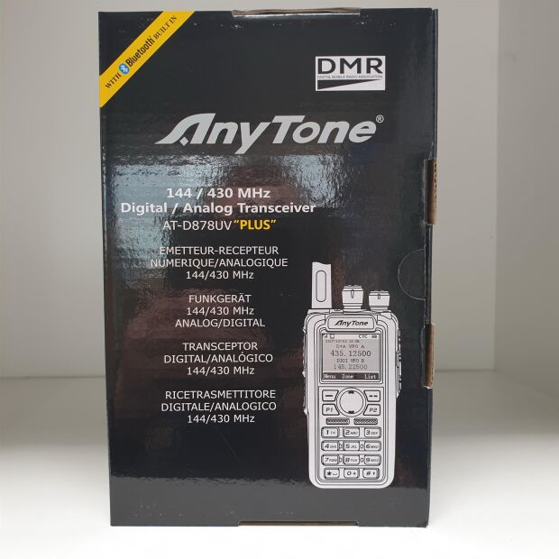 Anytone AT-D878UV Plus Dualband DMR/FM mit Bluetooth + GPS inklusive PTT-Taste