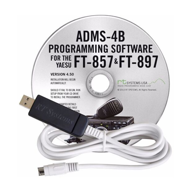 ADMS-4BU Programmiersoftware FT-857D/897D mit USB Kabel